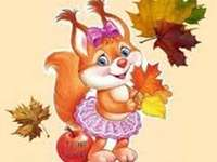 saudações de outono - saudações de outono do esquilo