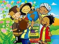 Η ειρήνη των παιδιών του Αυγουστίνου - Αυτό το παζλ αφορά την ειρήνη που πρέπει να πάρουμε τα �