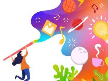 La creatività - L'arte è generalmente intesa come qualsiasi attività o prodotto svolto con uno scopo estetico
