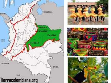 REGIONE ORINOQUIA - La regione di grande importanza in Colombia appartiene a una delle 6 che rendono la Colombia più di