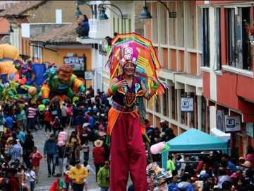 Guaranda carnaval - Guaranda carnaval Ecuadoraanse tradities