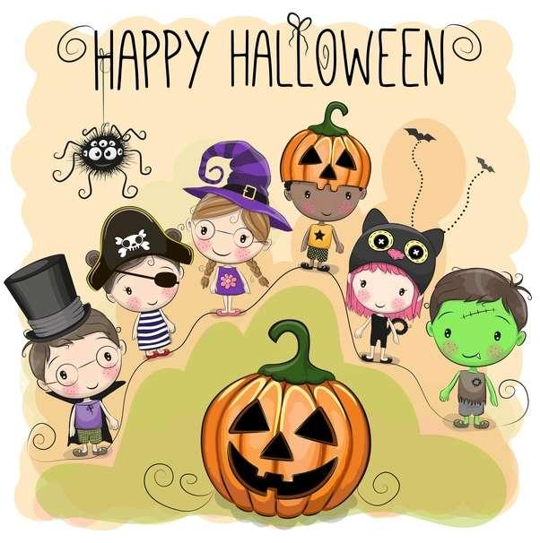 Glad Halloween - Bygg halloween-pusslet (3×4)