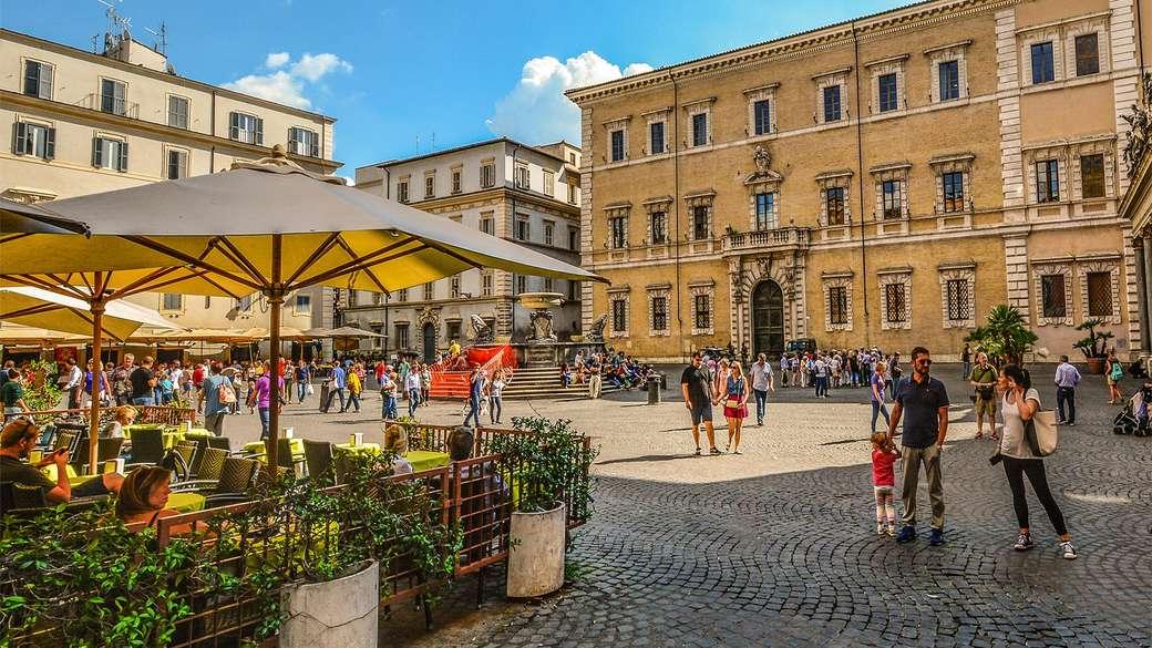 Piazza din orașul vechi Roma Trastevere