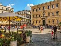 Piazza in Trastevere old town Rome