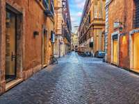 Ulička ve starém městě Říma - Ulička ve starém městě Říma