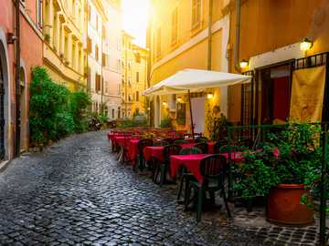 Altstadt Strassencafe in Rom
