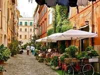 Pouliční kavárna starého města v Římě - Pouliční kavárna starého města v Římě