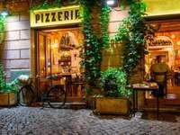 Pizzería del casco antiguo de Roma