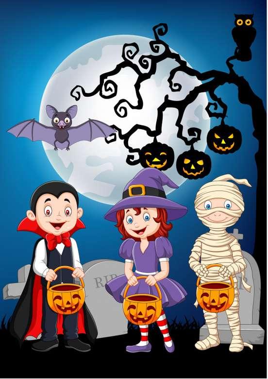 Halloween trick or treat - Bygg halloween-pusslet och ha kul (2×4)