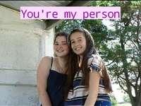 você é minha pessoa eu te amo - você é minha pessoa eu te amo muito, muito mesmo, você é o melhor da minha vida, obrigada por tu