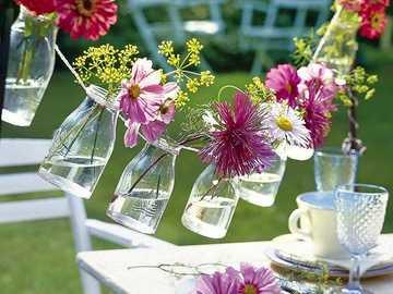 λουλούδια σε γυαλί - γιρλάντα - Μ ....................