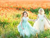 little girls on the meadow - m .....................