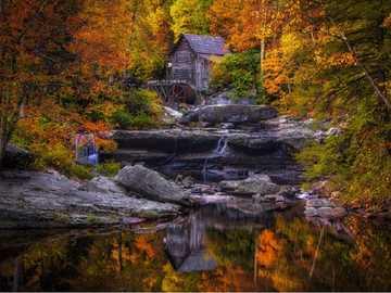 Watermill. - Landscape puzzle.