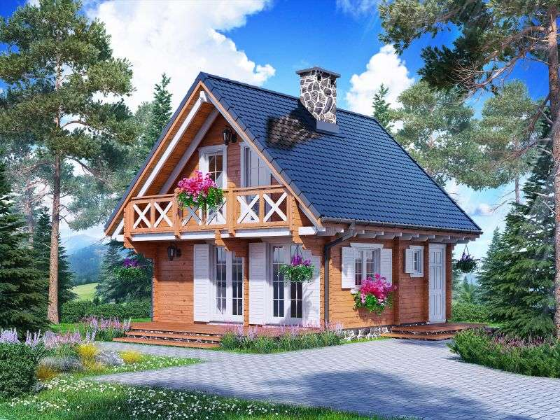 wooden cottage in spain - m (12×9)