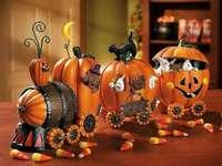 halloween - dýňový vlak