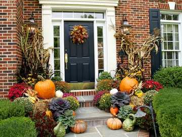 halloween- decoração na frente da casa - m .......................