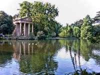 Villa Borghese garden in Rome - Villa Borghese garden in Rome
