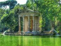 Giardino di Villa Borghese a Roma - Giardino di Villa Borghese a Roma