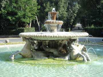 Jardín de Villa Borghese en Roma - Jardín de Villa Borghese en Roma