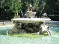 Villa Borghese trädgård i Rom - Villa Borghese trädgård i Rom