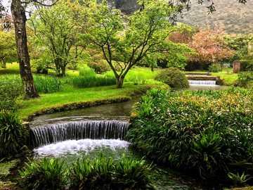 Красива градина в Рим
