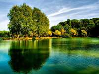 Villa Ada with beautiful garden and lake Rome