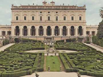 Villa Albani con jardines Roma - Villa Albani con jardines Roma