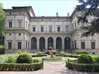 Villa Chigi med trädgård i Rom