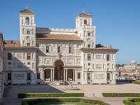 Villa Medici com vista para a Basílica de São Pedro em Roma