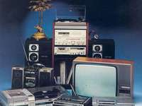 Television - This Is A Photo Of Hitachi Television From The 1980s.