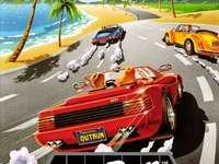 OutRun MegaDrive - Toto je závodní hra na konzole Sega.