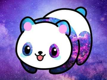 Panda Hawaii galaxies - Panda Hawaii is so cute it turns into a puzzle