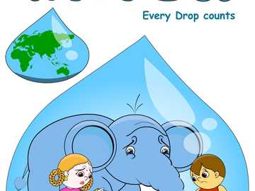 save water - each drop counts. How kids make conscience about water pollution