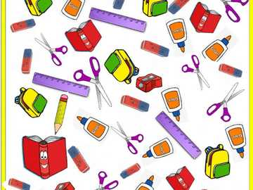 SCHOOL OBJECTS - Puzzle of school objects