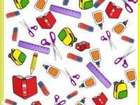 SCHULSACHEN - Puzzle von Schulobjekten