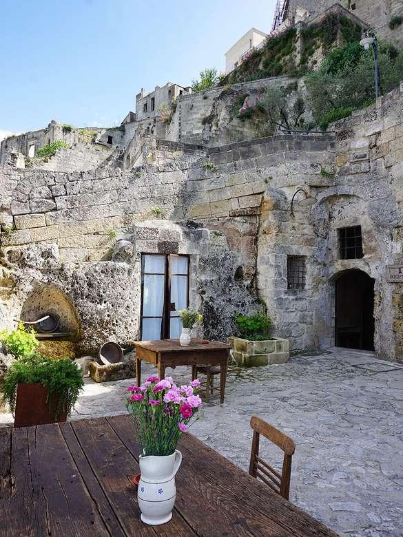 Matera holbewonerswoningen Basilicata regio Italië