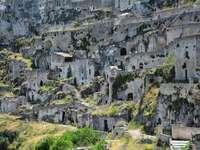 Matera troglodyte dwellings Basilicata region Italy - Matera troglodyte dwellings Basilicata region Italy