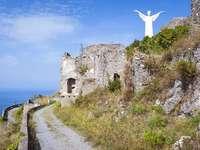 Maratea Christus standbeeld Basilicata regio Italië - Maratea Christus standbeeld Basilicata regio Italië