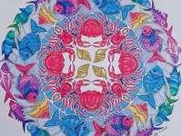 Buntes Mandala Meerestiere - Buntes Mandala Meerestiere