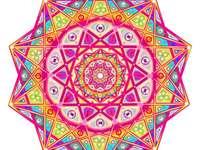 Barevná mandala ve všech barvách - s mandalou ve všech barvách