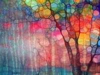 Barevné filigránové stromy - Barevné filigránové stromy