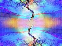 Bunte filigrane Bäume - Bunte filigrane Bäume