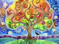 Tree four seasons and with the four elements - Tree four seasons and with the four elements