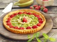 Fruit pie - Fruit tart and puff pastry