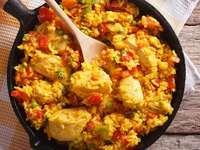 Chicken casserole - Chicken rice casserole