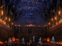 Hogwarts Halloween - El Gran comedor y todo el castillo está preparado para recibir el mes de las brujas.