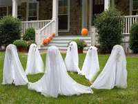 dancing ghosts in front of the house - m ......................