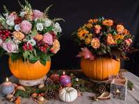 flowers in a pumpkin - m ......................