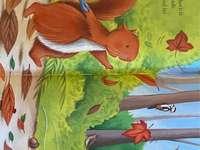 Veverița la cules de Ghinde