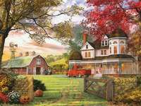 Farm Buildings, Autumn - Farm Buildings, Autumn